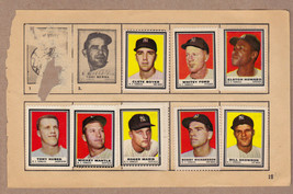 LOT OF 8: 1962 Topps stamps NY Yankees on album page Mantle Maris Ford Boyer - $49.95