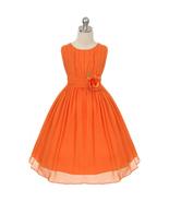 Orange Round Neck Yoryu Chiffon Flower Girl Dress Birthday Prom Pageant ... - $36.00+