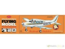 Flying Model Balsa Wood Model Airplane Guillow's Beechcraft Musketeer  G... - $27.41
