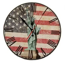 "George Jimmy 14"" Retro Unique Wooden Wall Clock Decor Silence Hanging Clock, 14 - $46.31"