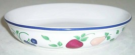 "Princess House Orchard Medley Oval Vegetable Bowl 10"" Fruit - $29.44"