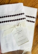 Pottery Barn Pearl Dot Euro Sham Madeira Wine Embroidered Burgundy More  - $21.50