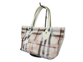BURBERRY PVC Canvas Patent Leather Pink Shoulder Bag BT0469 - $289.00