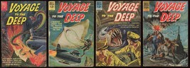 Voyage to the Deep Comic Set 1-2-3-4 Lot Dell 1962-1964 Submarine vs Monsters - $50.00