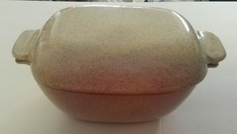 Vintage GLIDDEN Pottery #163 Covered Casserole Mid-Century Stoneware Speckled image 1