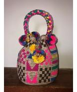 Authentic 100% Wayuu Mochila Colombian HandBag Medium Size 8 Colors Mati... - $56.00