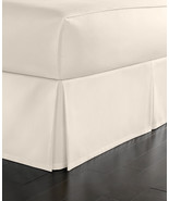 Martha Stewart Simple Pique King Bed skirt, Vanilla - $33.65
