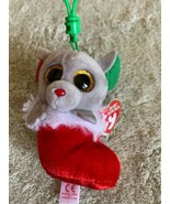 NEW Ty Baby Beanie Boo Gray Mouse Red Stocking BUNDLES Holiday Keychain ... - $8.33