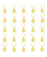 Men and Women's Alphabet Initial Gold and Silver Coin Chain Pendant Neck... - $39.99