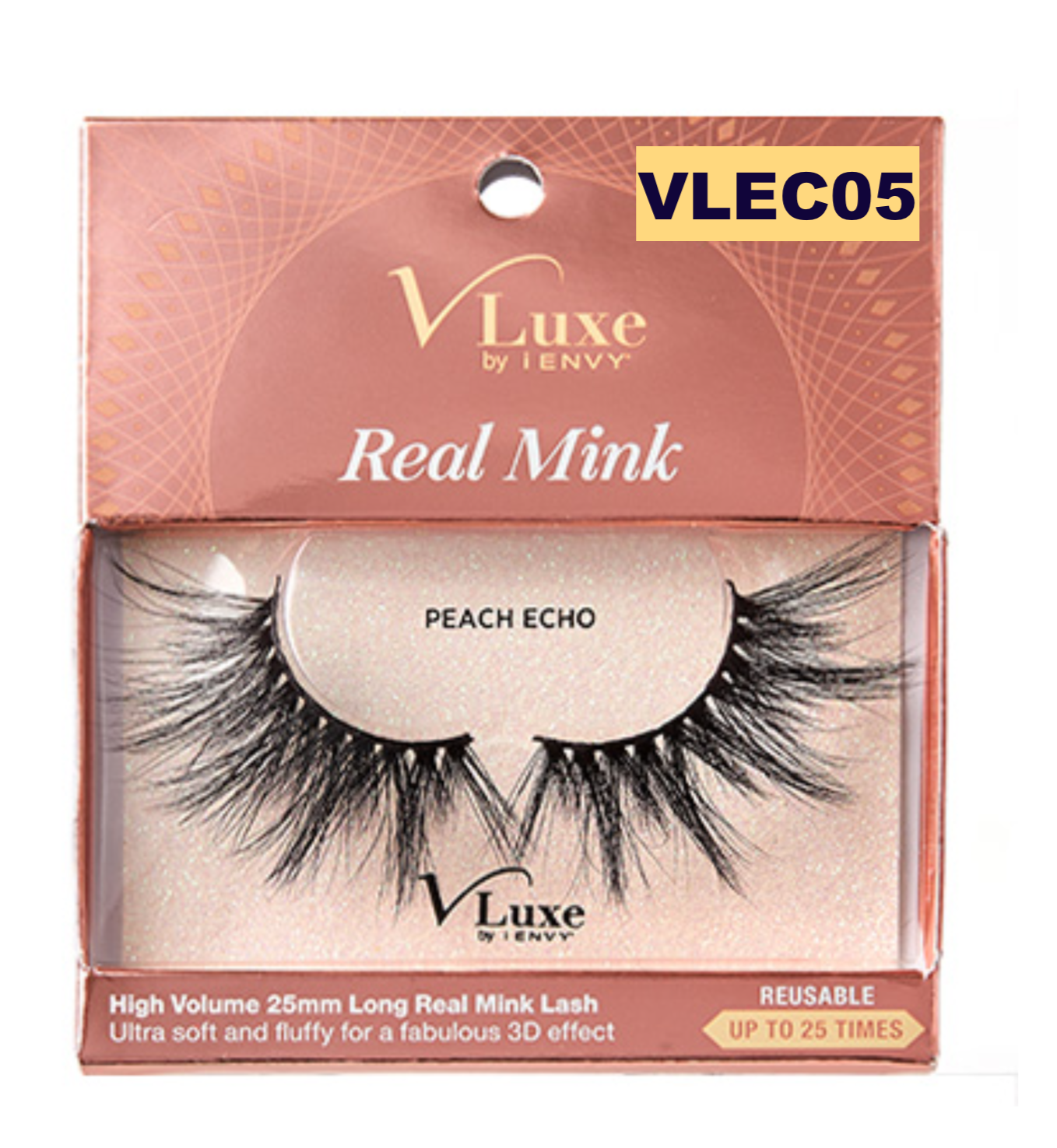 Primary image for I ENVY BY KISS EYELASHES V-LUXE REAL MINK PEACH ECHO  VLEC05