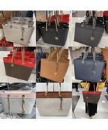 NWT Michael Kors Shania Large Shoulder Bag Leather Tote MK Signature Multi Color - $129.95