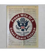 US Coast Guard Veteran Proud Choose A Family Member Dictionary Art Print - $11.00
