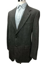 BROOKS BROTHERS 346 Herringbone 2 Buttons Single Breasted Suit Suit Gray - $37.61