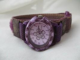 Purple Flower TMX Watch, Adjustable Band, WORKING! - $29.00