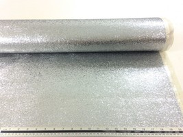 Chunky Glitter Silver High Quality Upholstery Fabric Material *3 Sizes* - $2.38+