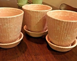 SHAWNEE VTG Pottery USA Pink Herb Planters Pots 3 Available - $22.72