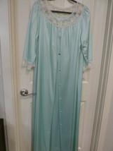 Pinoir Set Vintage JC Penney Sea Green Nightgown Medium - $24.74