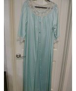 Pinoir Set Vintage JC Penney Sea Green Nightgown Medium - $24.74