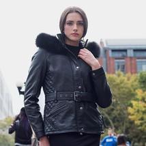 Whetblu Women's Motorcycle Leather Jacket Elle | WBL1053, Black And Oxblood - $349.99
