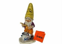 Goebel Gnome Figurine Hummel Co Boy Dwarf Germany vtg Sam Gourmet crock ... - $74.25