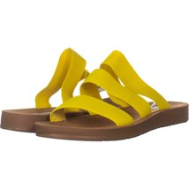 Steve Madden Pascale Slide Sandals 632, Yellow, 10 US - $28.79