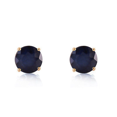 Primary image for 14K Solid Rose Gold Women's Cute and Petite Sapphire Stud Earrings 0.95 Ct