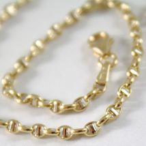 Gold bracelet Yellow or White 750 - 18k, 21 cm Marinara Handlebar Made in Italy image 3