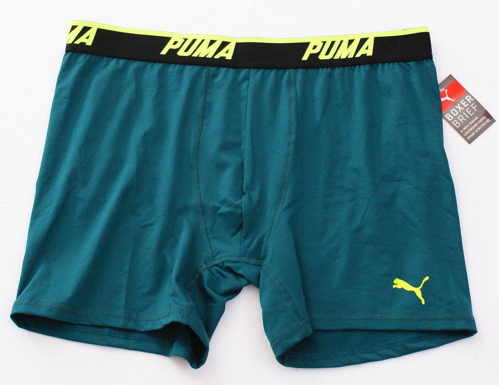 Puma Teal Green Lightweight Stretch Boxer Brief Men's NWT