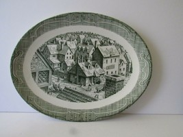 Royal China The Old Curiosity Shop Green Platter - $18.99