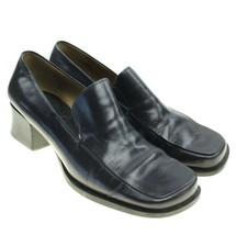 Franco Sarto Womens Loafer Size 6-1/2 Dark Navy Leather Upper - $21.73