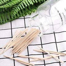 Whaline 400 Pieces Small Wax Sticks Wood Spatulas Applicator Craft Sticks for Ha image 3