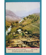 INDIA Indian Village & Tea Plantation - 1940s Color Ink Blotter Print - $5.36