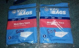 Lot of 2 Shop Vac Replacement Vacuum Bags and Band by DVC 5 Packs - $7.75