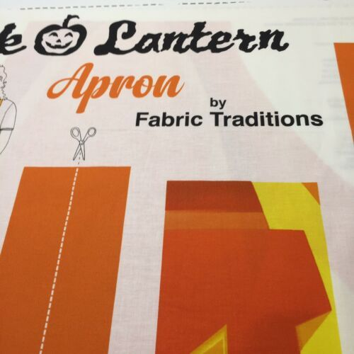 Jack O Lantern Apron Panel Fabric Traditions Halloween 100% Cotton Pumpkin