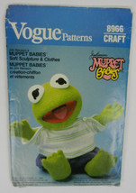 VOGUE Vtg Sewing Pattern 8966 Kermit Muppet Babies Soft Sculpture Clothe... - $19.79
