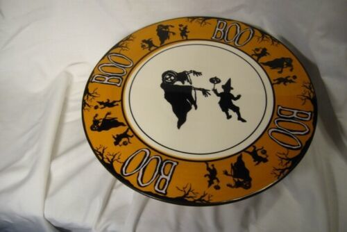 Bethany Lowe BOO Cake Plate w/ Witches