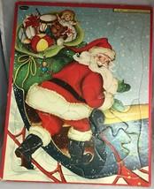 1947 Whitman Frame-Tray Puzzle #4424 Vintage Christmas Santa & Sleigh - $24.50