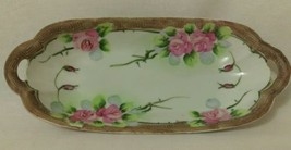 VINTAGE JAPANESE HAND PAINTED China LONG PLATE DISH - $32.73
