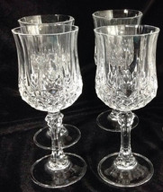 Set of 4 Cristal d'Arques Longchamps Wine Glasses   Crystal Stemware  - $39.99