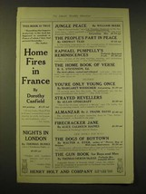 1918 Henry Holt and Company Ad - Home Fires in France - $14.99