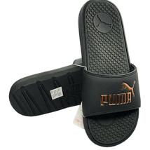 Nwt Puma Authentic Cool Cat Sport Womens Gold Black Slip On Slides Sandals - $25.99