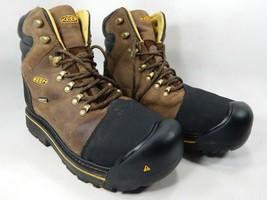 Keen Milwaukee Sz 9 2E WIDE EU 42 Men's WP Steel Toe Work Brown Boots 10... - €79,10 EUR