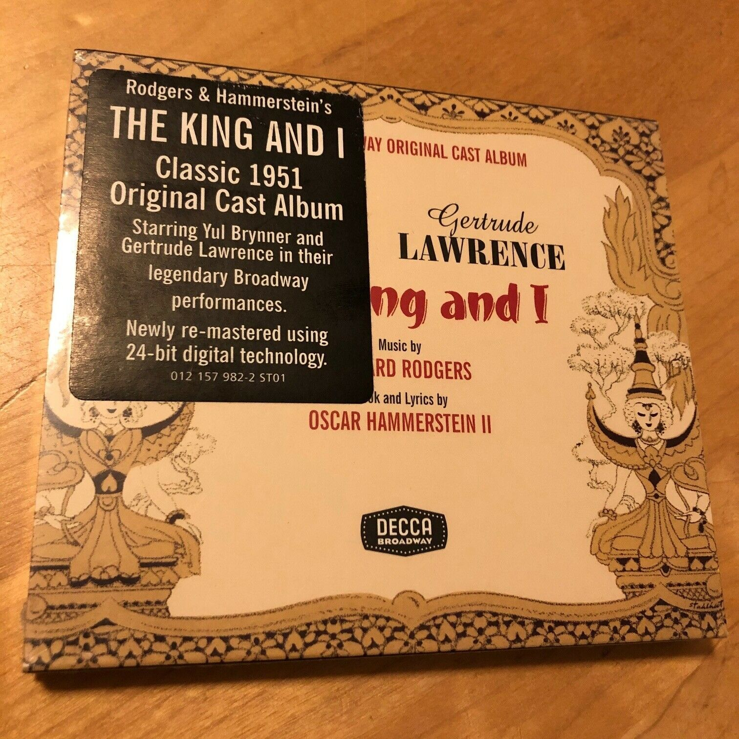 Primary image for THE KING AND I [Original 1951 Cast] [Remastered] Gertrude Lawrence CD BRAND NEW