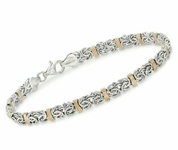 "7.8"" BYZANTINE Bracelet in 14K Yellow White Plated Two-Tone Color ITALY ... - €9,07 EUR"