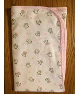 Girls Baby Bear Flannel Blanket  - $24.00
