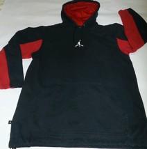 VTG 2005 NIKE Air Jordan Hoodie Sweatshirt Black Red 20th Anniversary M - $46.50