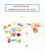 Super popular 12 piece cat or kitten toy set - $9.99