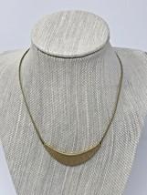Vintage Avon Egyptian Crescent Gold Tone Choker Necklace - $27.08
