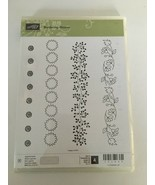 Stampin Up Bordering Blooms Photopolymer Clear Stamps Spring Summer Card... - $17.10