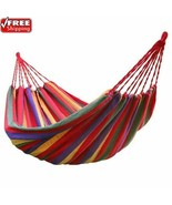 Camping Hammock Outdoor Leisure Double 2 Person Canvas Ultralight With B... - $25.30